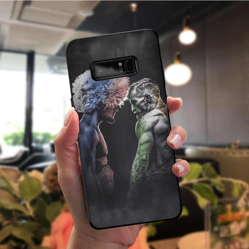 NBDRUICAI كونور مكجريجور UFC لينة سيليكون غطاء إطار هاتف محمول لسامسونج ملاحظة 3 4 5 7 8 9 10 برو A7 2018 A10 A40 A50 A70 J7 2018
