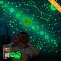 Zollor 525 шт. в коробке светящиеся девять планет настенные стикеры спальня гостиная флуоресцентная Звезда Луна декоративные стикеры s
