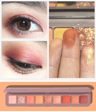 Glitter Eye Shadow Palette Makeup Kit Waterproof 9 Colors Red Nude Matte Pigment Shimmer Colorful Eyeshadow Powder Cosmetics