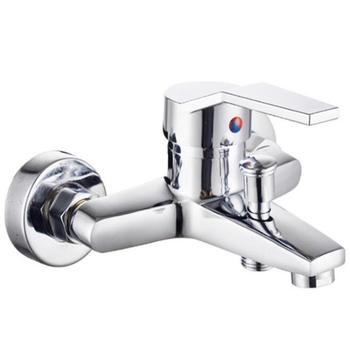 Do montażu na ścianie bateria do wanny do prysznica łazienki Mixer Tap kran ciepła i zimna woda kran mieszający domu zainstalowanego sprzętu tanie i dobre opinie Chromowany Zimnej i Ciepłej Klasyczny Bathtub Faucet Podwójny uchwyt STAINLESS STEEL