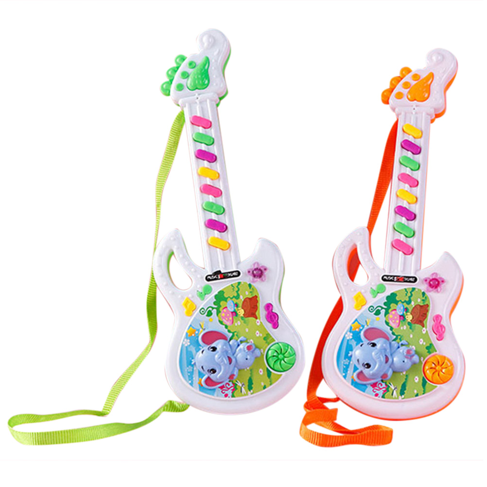 Mini Electric Guitar Toy Children\'S Music Toys Learning Development Educational Musical Instrument Toys