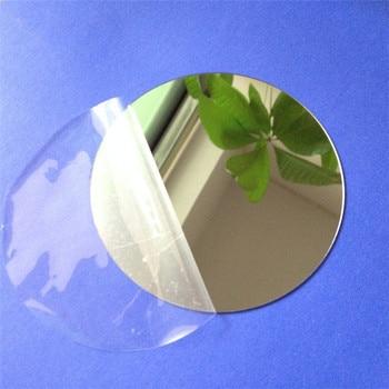 10 pièces diamètre 100x1mm acrylique miroirs muraux feuille ronde autocollants en plastique PMMA verre hôtel décoratif lentille Miroir Mural bricolage Plak