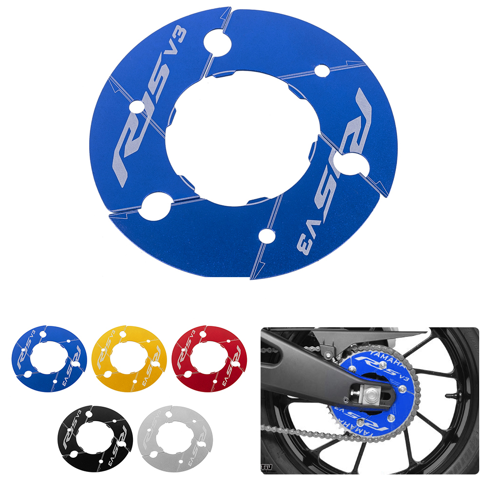 Motorcycle Rear Sprocket Cover Aluminum Rear Wheel Transmission Pulley Gear Decoration title=