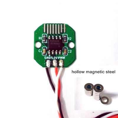 AS5600 I2c interface cabeça brushless do motor aplicável valor Absoluto en codificador 12bit precisão código setPWM disco ímãs
