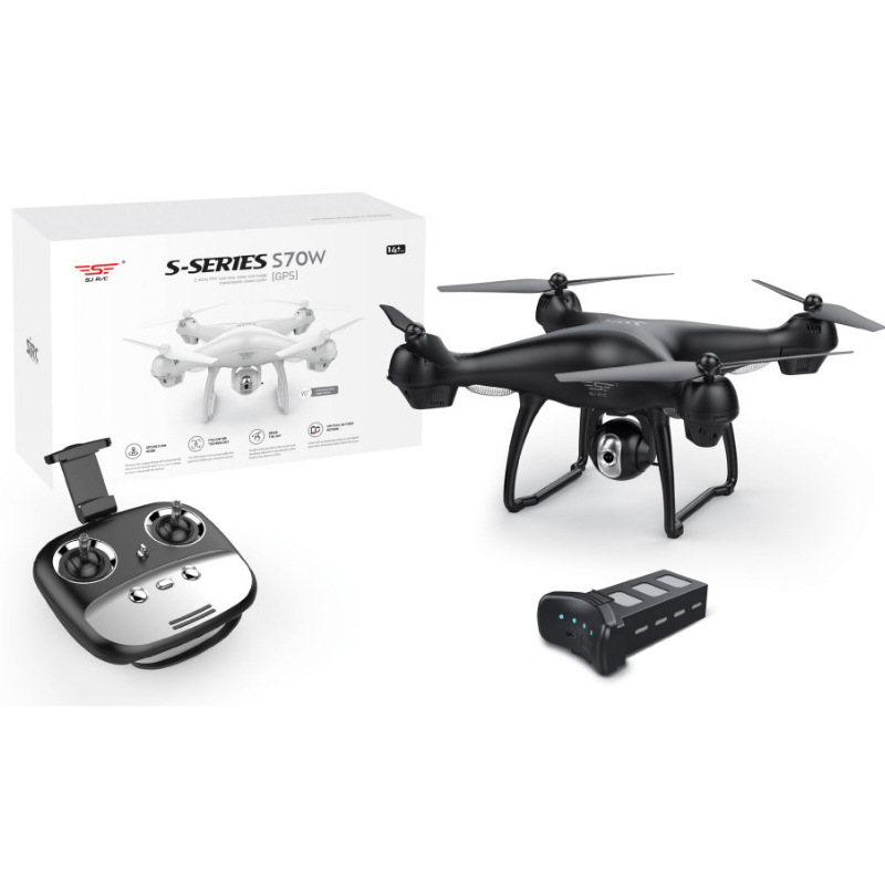 Shi Ji S70w High-definition 1080P Unmanned Aerial Vehicle Airplane Aerial Photography Double GPS Remote Control Follow Four-axis