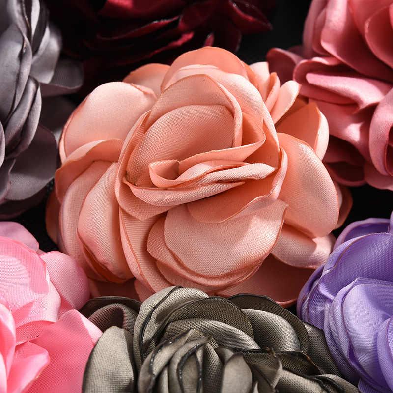 Coreano Grande In Tessuto Rosa Fiori Spille trasporto libero Dei Monili di Arte del Panno Orsage Risvolto Spille Distintivo Colletto Della Camicia Regali per le Donne Accessori 8CM