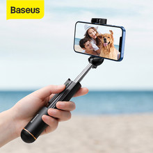Baseus-Palo de selfi plegable Super Mini, Bluetooth, soporte para teléfono móvil, soporte para teléfono móvil, iOS/Android/Xiaomi