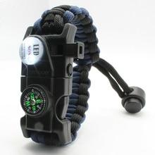 Bracelet Multi-Tool Survival-Paracord Camp-Equipment SOS Rescue-Rope Flash-Wristband