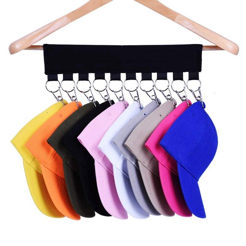 Hat Organizer Hanger, 10 Baseball Cap Holder, Hat Storage For Closet - Change Your Clothes Hanger To Ball Cap Organizer Hanger -