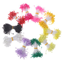 Multi colors Pearl Stamen Sugar Handmade Artificial Flower For Wedding Decoration DIY Stamen Pistil Floral(China)