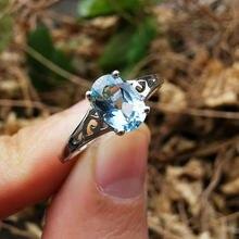Mh гарнитур ювелирных украшений из природного голубой топаз