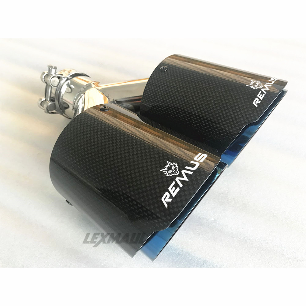 dupla automóvel remus silenciador de tubo de