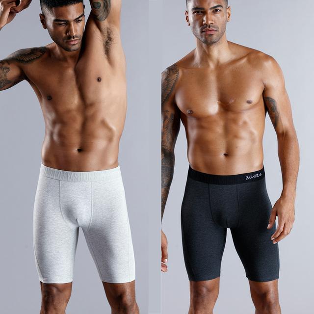 Largos Boxer Hombre Ropa interior  pantalones alta calidad algodón Natural