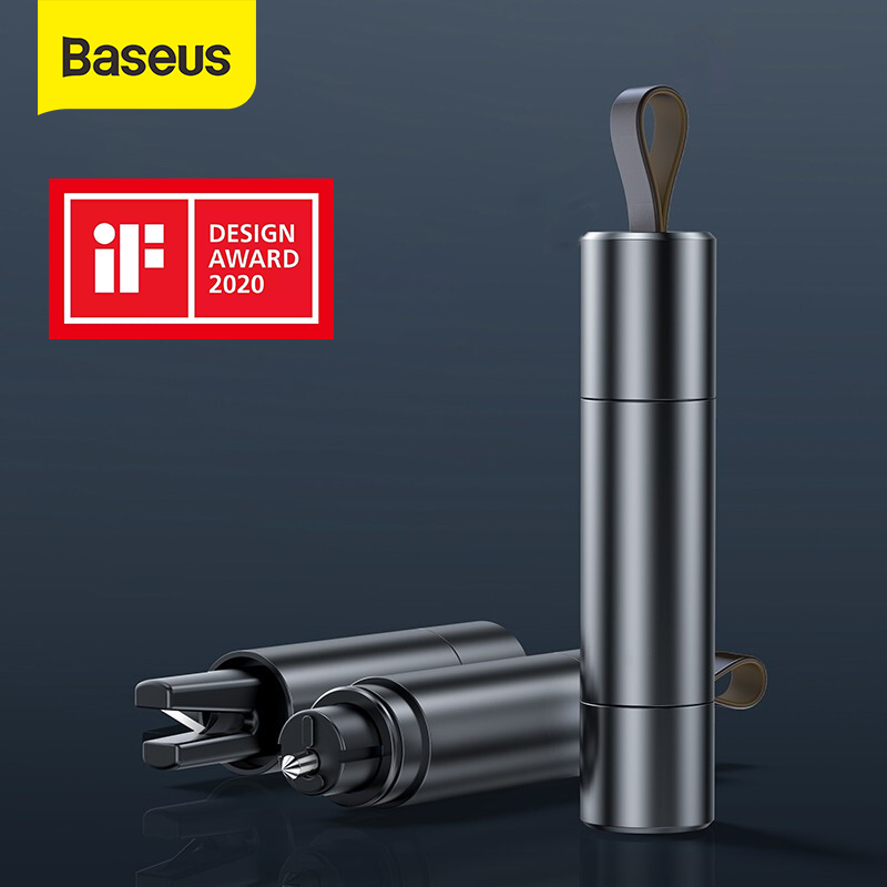 Baseus Car Safety Hammer Auto Emergency Glass Window Breaker Seat Belt Cutter Life-Saving Escape Car Emergency Tool