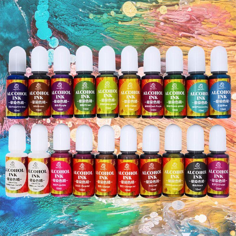 20 Colours Epoxy Pigment Liquid Colorant Dye Ink Diffusion Resin Jewelry Makin