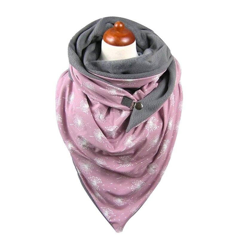 2020 New Fashion Ladies Scarves Women Autumn Soild Dot Printing Button Soft Wrap Casual Warm Scarves Shawls Шарфов Шарф Бандана