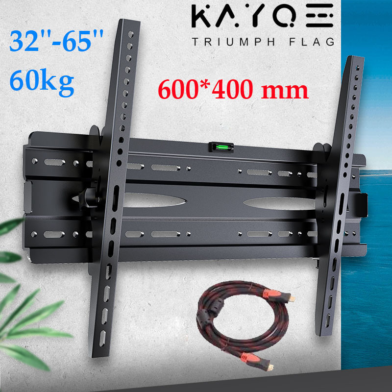 KAYQEE Universal TV Wall Mount Adjustable Ultra Slim Plasma Tilted Monitor LCD LED HD TV Wall Bracket Suitable For 32''-65'' TV
