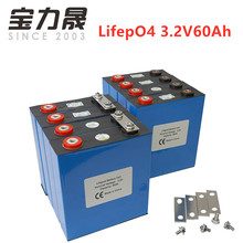 8PCS 3.2V 60Ah lifepo4 battery CELL 3000 CYCLE 12V120AH 24V60Ah for EV RV battery pack diy solar EU US TAX FREE UPS or FedEx