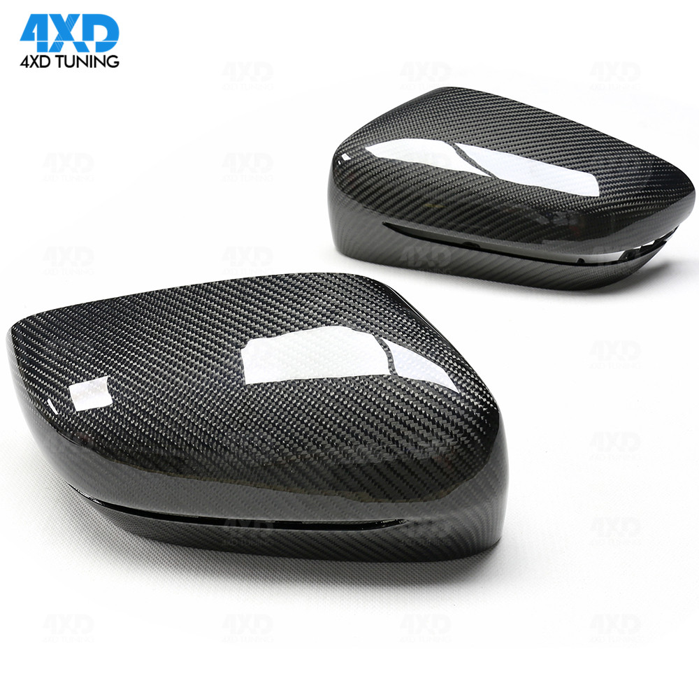 Carbon Fiber Mirror Cover For <font><b>BMW</b></font> G20 G21 Rear View Mirror Cover caps LHD Only Glossy Black styling 2019+ image