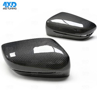 Carbon Fiber Mirror Cover For BMW G20 G21 Rear View Mirror Cover caps LHD Only Glossy Black styling 2019+