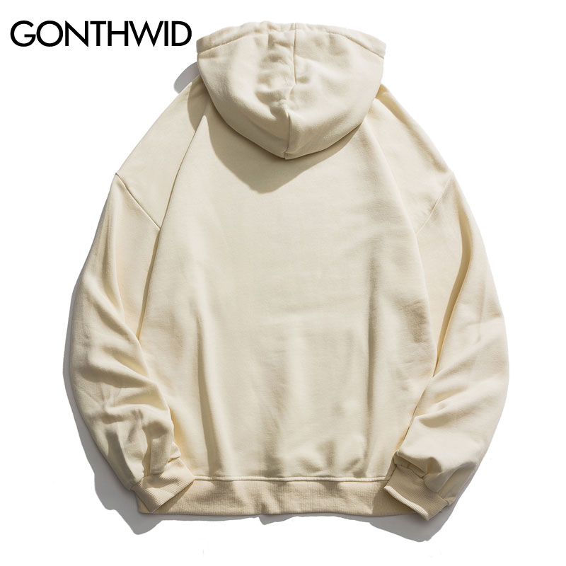 GONTHWID Funny Van Gogh Sunflower Print Hooded Sweatshirts Hoodies Streetwear Men Hip Hop Casual Pullover Tops