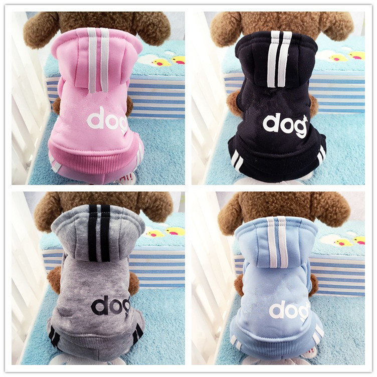 Autumn Winter Puppy Hoodie For Small Dogs Sport Warm Coat Sweater Four Legs Pet Clothes For Dog Cat Puppy Sweatshirt Outfits