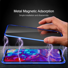معدن الإمتصاص المغناطيسي الحال بالنسبة شاومي Redmi نوت 9 8 7 برو 8T 9A 9C 8A Mi 10T نوت 10 لايت برو X3 NFC ضعف الجانب غطاء زجاجي