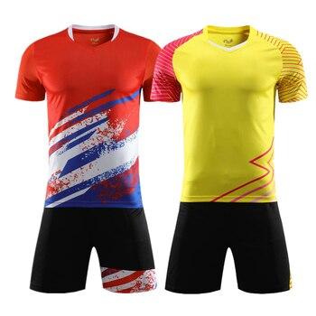 Футболка с V-образным вырезом для детей и взрослых, футболка для бадминтона и шорты, одежда для настольного тенниса, Комплект футболок, спорт...
