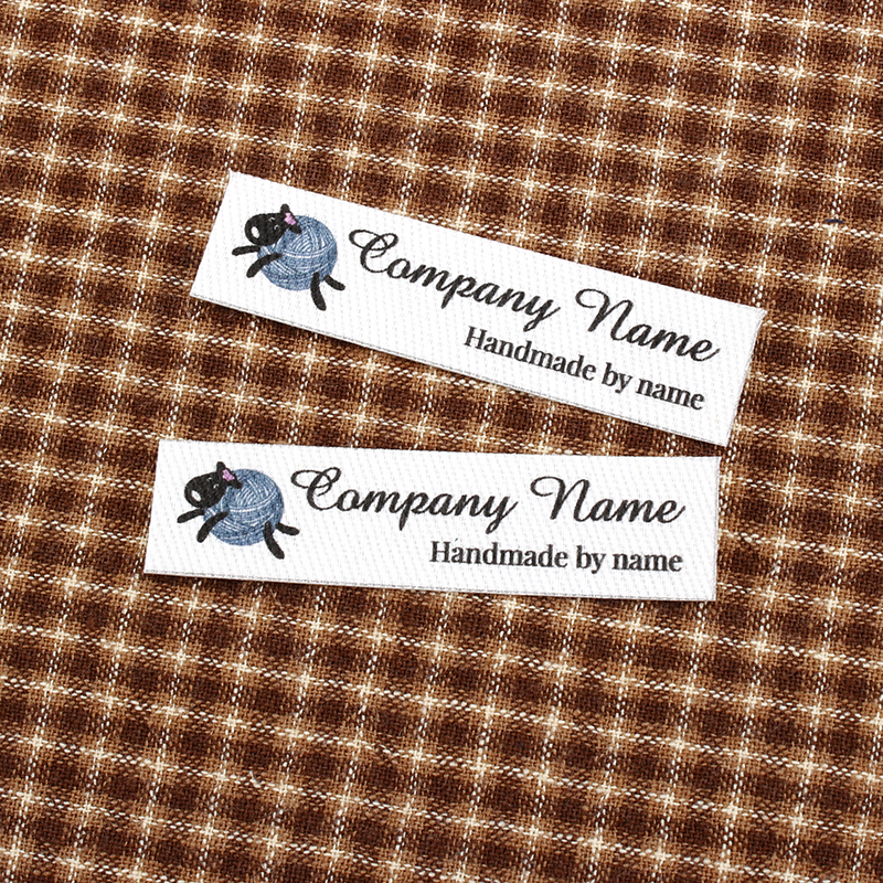 96 Custom Iron <font><b>Labels</b></font>, Logo or Text, Custom Design, iron on, Custom Design,knitting (TB0097) image