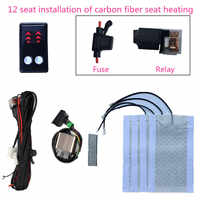car 12 V seat heating warm cover Autumn And Winter + 4 heater pad +LCD 3-position arrow heated switch for 2 seats installed