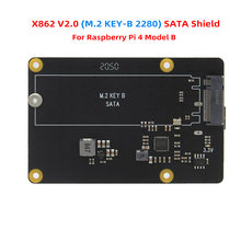 Raspberry Pi X862 V2.0 M.2 NGFF 2280 SATA SSD Storage Expansion Board / Shield for Raspberry Pi 4 Model B