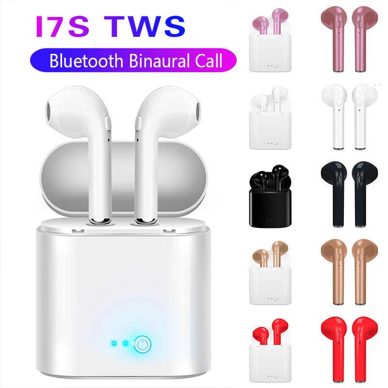 I7s TWS bezprzewodowe słuchawki Bluetooth sportowe słuchawki Stereo zestaw słuchawkowy Bluetooth z podstawką do ładowania dla wszystkich smartfonów Auriculares