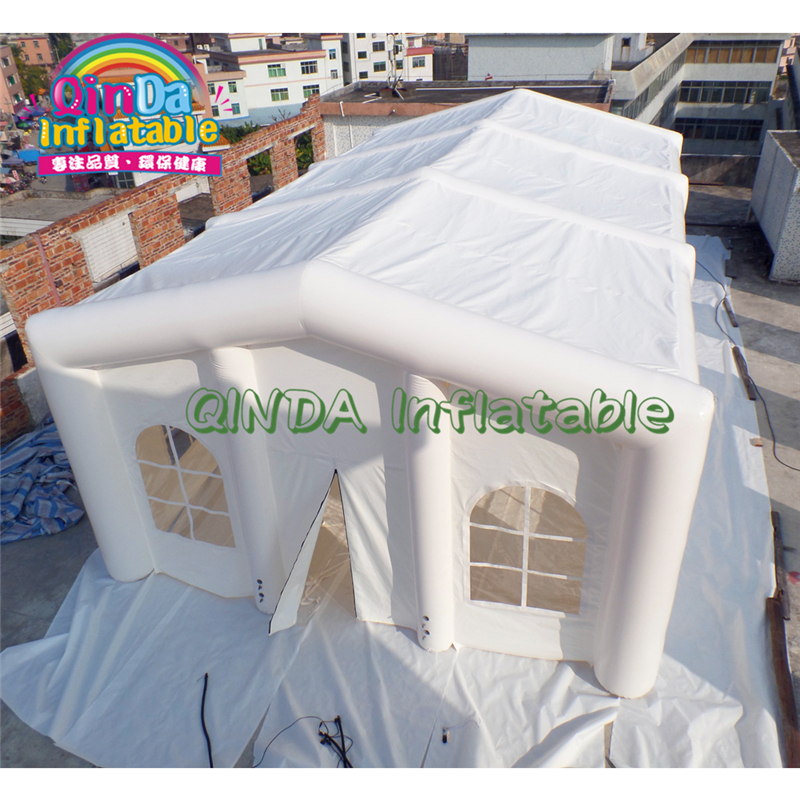 Outdoor PVC Camping Or Party Event White Commercial Joint Inflatable Dome Tent With Windows