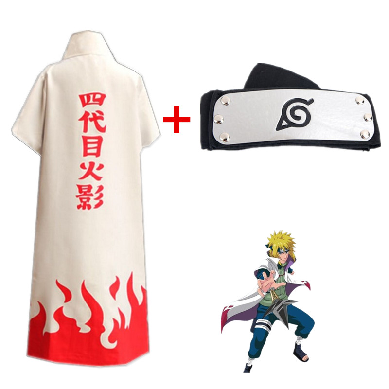 Anime Naruto cosplay costume 4th Yondaime Hokage Namikaze minato Cloak coat