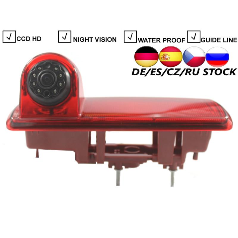 CCD Car Brake Light Rear View Camera For 2014 Opel Vivaro For 2014 Renault Trafic 8pcs IR Lights Auto Parking Reverse HD Camera