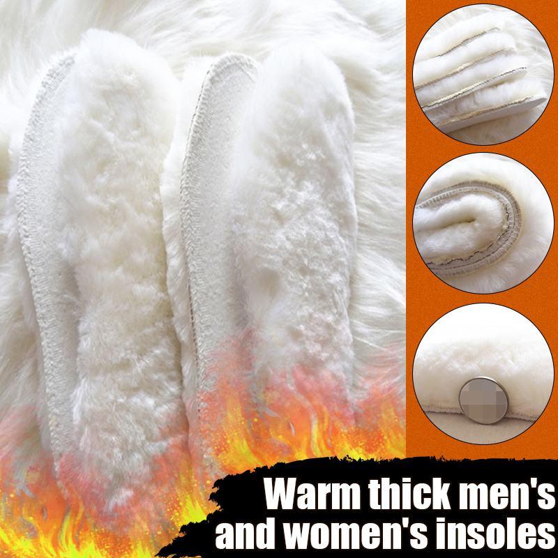 1 пара теплых стелек с подогревом подошвы для обуви зимние толстые теплые стельки унисекс шерстяные дышащие уличные зимние сапоги стельки|Стельки|   | АлиЭкспресс