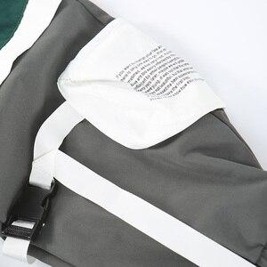 Image 5 - Calças de carga hip hip dos homens multi bolsos 2020 harajuku pant corredores baggy bloco cor retalhos sweatpant streetwear calças pista