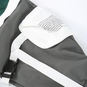 Image 5 - Men Hip Hip Cargo Pants Multi Pockets 2020 Harajuku Pant Joggers Baggy Color Block Patchwork Sweatpant Streetwear Track Trousers