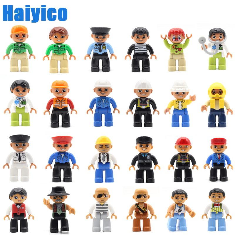 Figure Big Building Blocks Family Member Model Accessories Compatible Duplos Set Doll City Occupation Character Children Toys