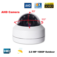 купить 2.0MP 1080P AHD 4 In 1 CCTV Camera Video Surveillance Security Outdoor Mini PTZ Camera 2.8-12mm 4X Zoom OSD Menu дешево