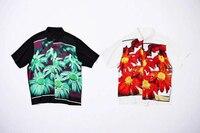 Bogo x Jean Paul Flower Power Rayon Men Shirt Summer Style Men Hiphop Casual Shirt tee