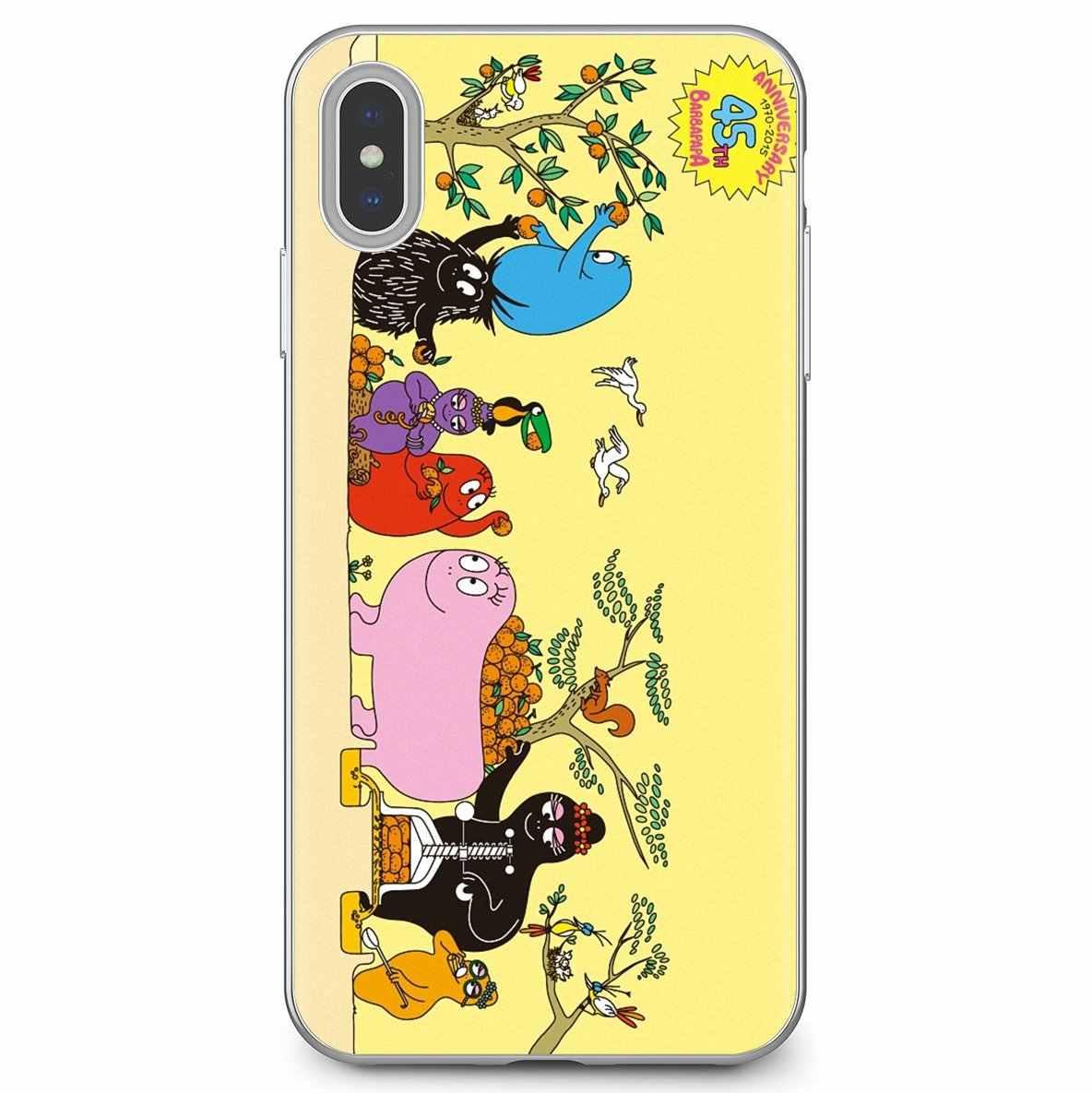 Les Barbapapa Barbamama Rosa Lächeln Silikon Abdeckung Tasche Für Huawei G7 G8 P7 P8 P9 P10 P20 P30 Lite Mini pro P Smart 2017 2018 2019