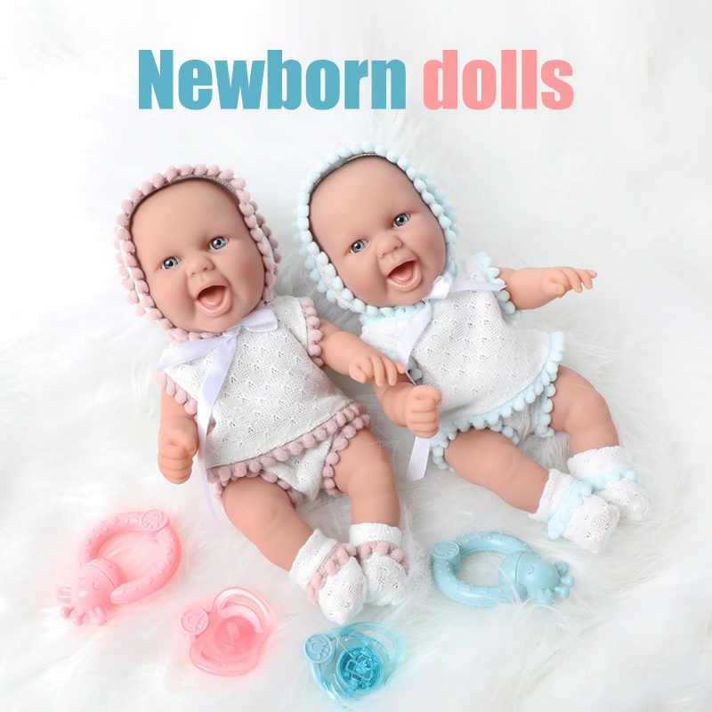 26 ซม.Bebe Reborn ตุ๊กตา 10 นิ้วกันน้ำซิลิโคนจำลองที่สมจริงทารกแรกเกิดตุ๊กตา Hand Bell ชุดสำหรับของเล่นเด็ก