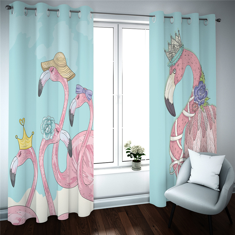 Printed 3D Sheer Curtains For Living Room Modern Bedroom Drapes Cortinas Decor Brids Children's Curtain Customized Size