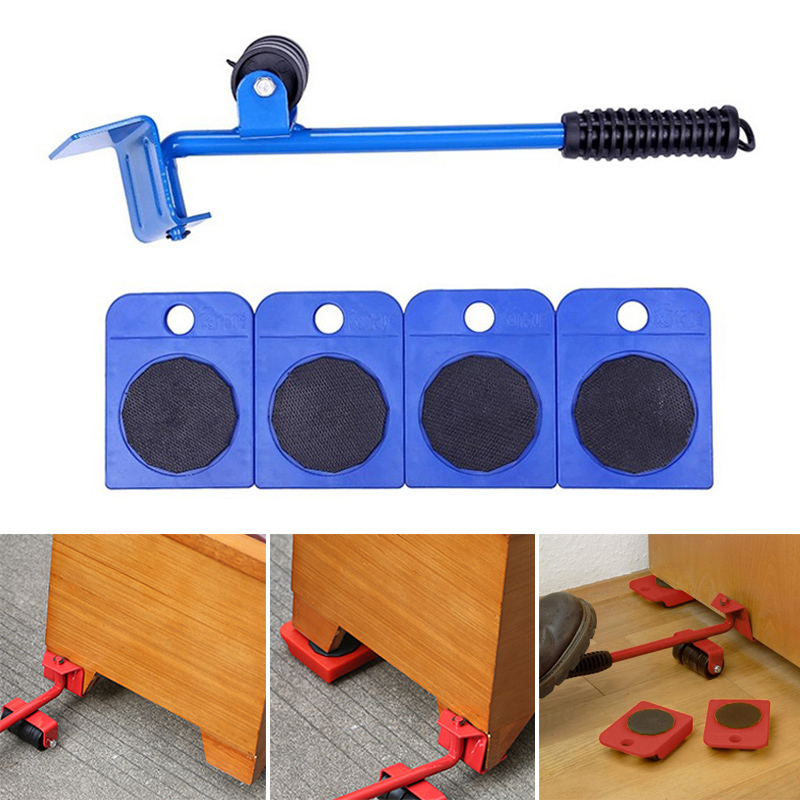 Home Portable Furniture Mover Heavy Object Lifter Steel Hand Tool Set Bear 200kg 360 Degrees Rotate JDH99