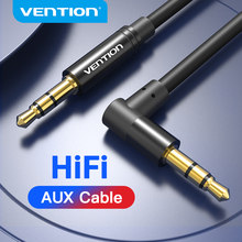 Vention Aux Cable 3.5mm Jack Audio Cable 90 Degree Right Angle 3.5 AUX Cord for Car Headphones Xiaomi Beats Speaker MP4 AUX Cord