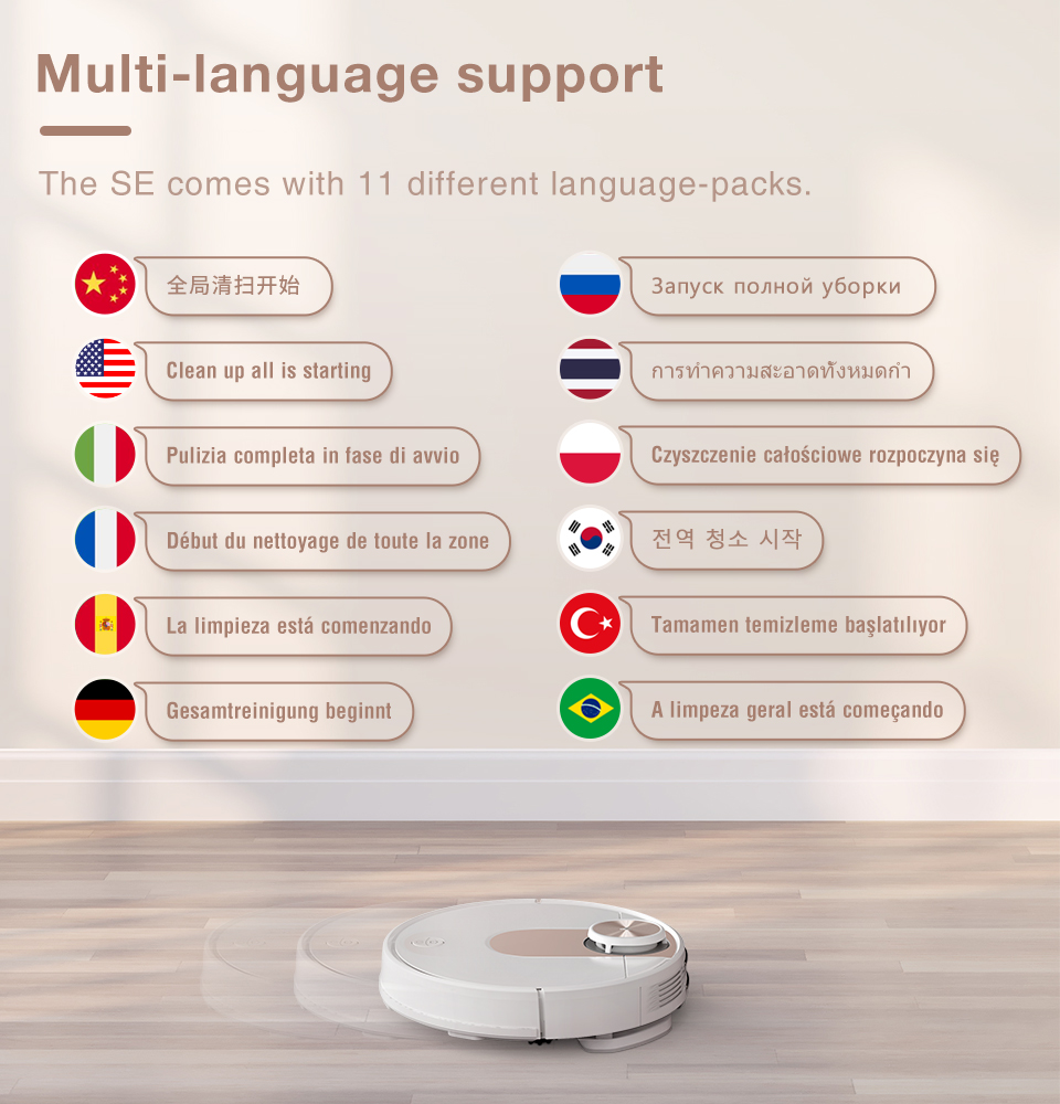VIOMI SE Y-type Electric Mop Sweeping Robot Vacuum Cleaner, Mijia APP, Save 5 Maps 7 Schedule, Carpet Hair Pet Dust Collecto 12