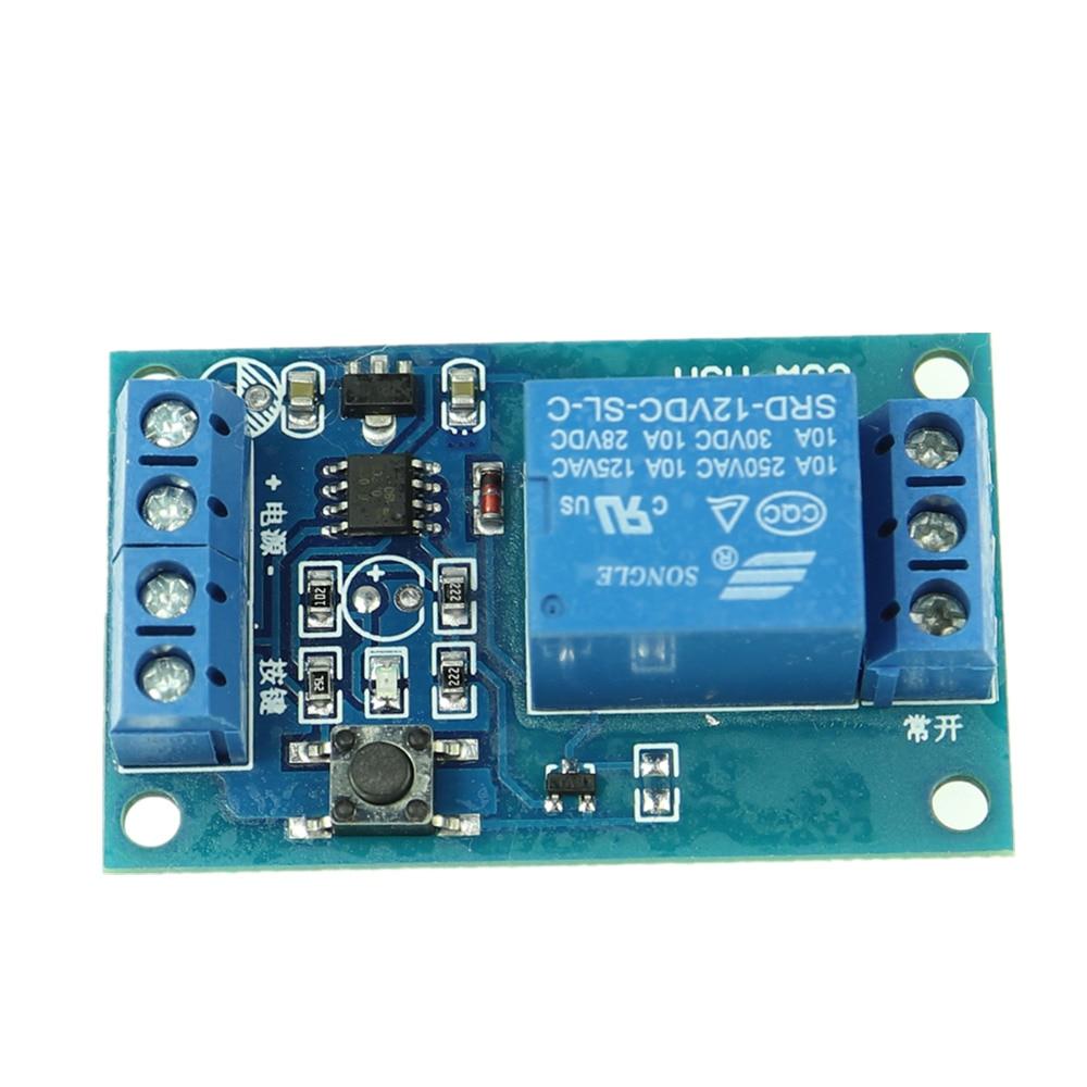 12V Bond Button Bistable Relay Module Car Start//Stop Self-Locking Switch