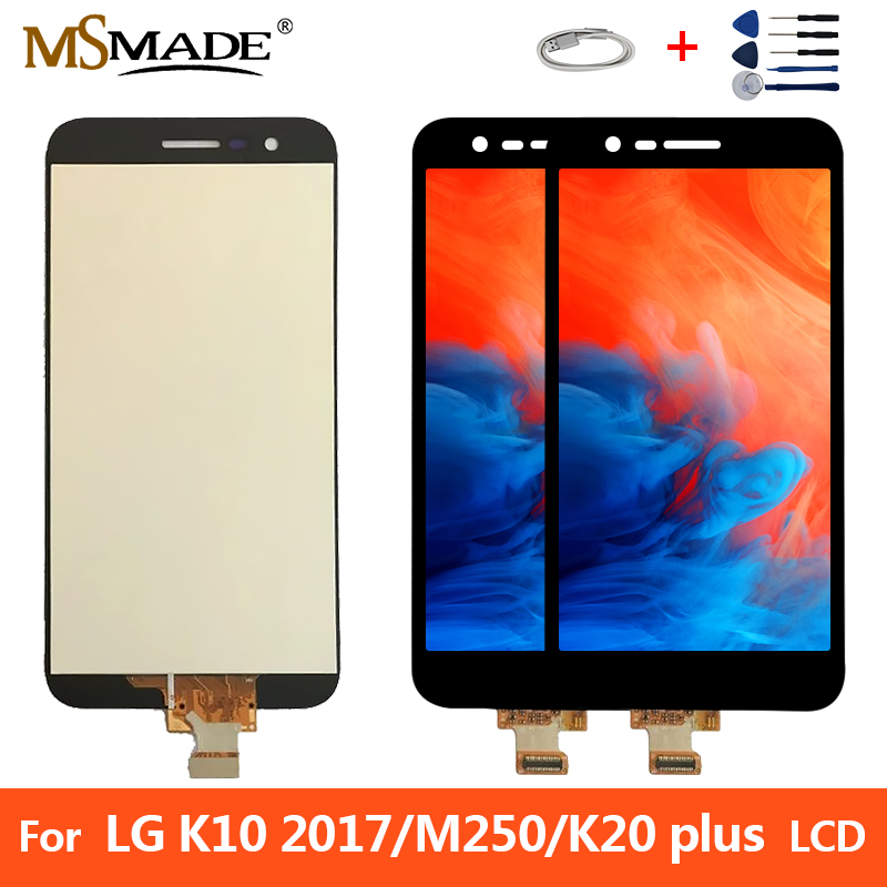 Original LCD For <font><b>LG</b></font> K10 2017 M250 LCD Touch <font><b>Screen</b></font> Digitizer Display <font><b>Replacement</b></font> Parts For <font><b>K20</b></font> <font><b>Plus</b></font> M250N M250E With Frame image