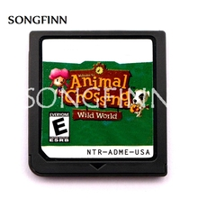 Animal Crossing Wild World ENG/FRA/GER/ITA/ESP Video Game Accessories Cartridge Card for 64bit Video Game Console